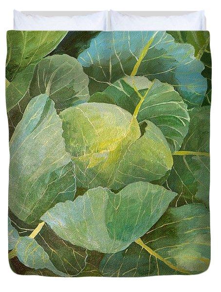Cabbage Duvet Cover by Jennifer Abbot