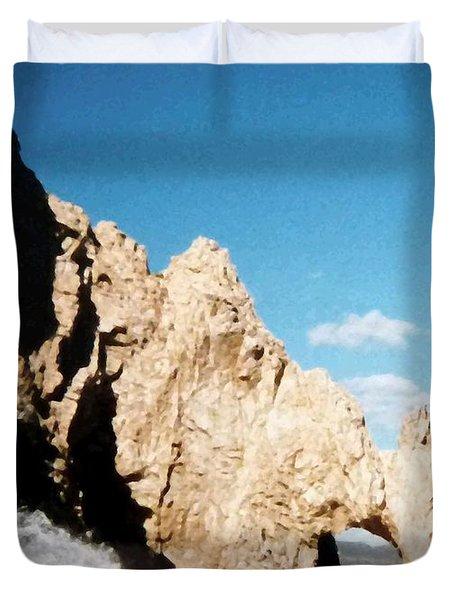 Cabo San Lucas Arch Duvet Cover by Will Borden