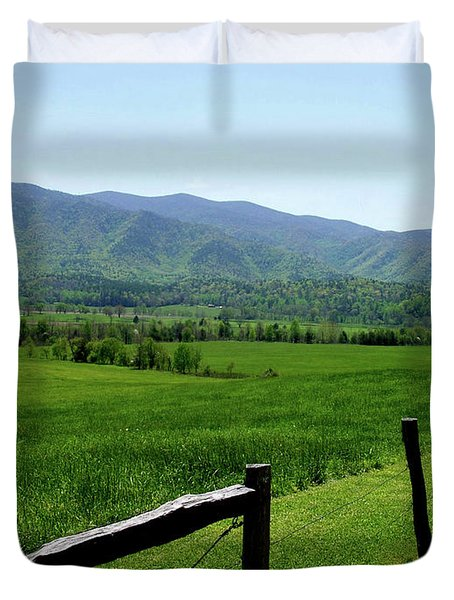 Cades Cove View Duvet Cover by Nancy Mueller