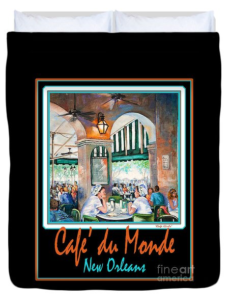 Cafe Du Monde Duvet Cover by Dianne Parks