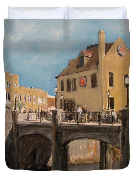 Cafe Hollander 1 Duvet Cover by Anita Burgermeister