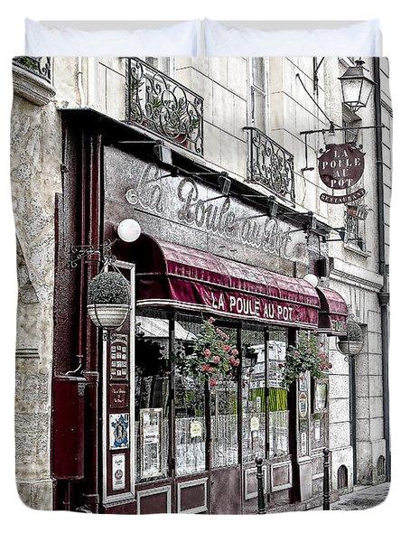Cafe In Paris Duvet Cover by J Pruett