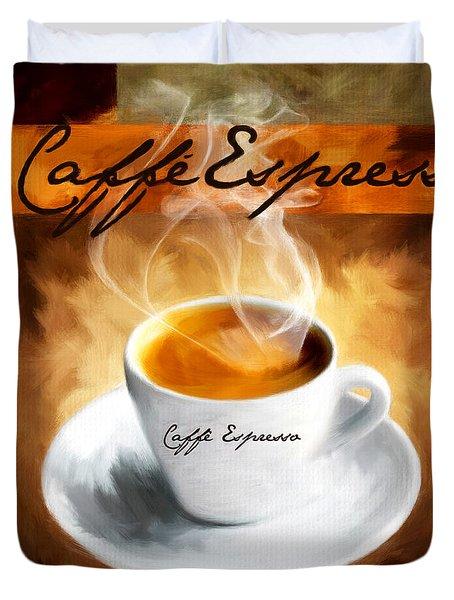 Caffe Espresso Duvet Cover by Lourry Legarde