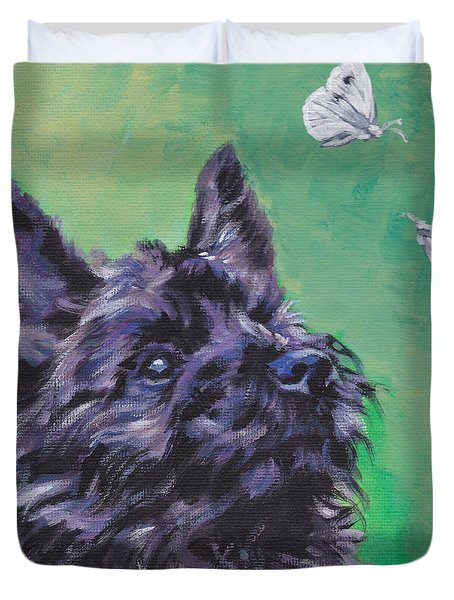 Cairn Terrier Duvet Cover by Lee Ann Shepard