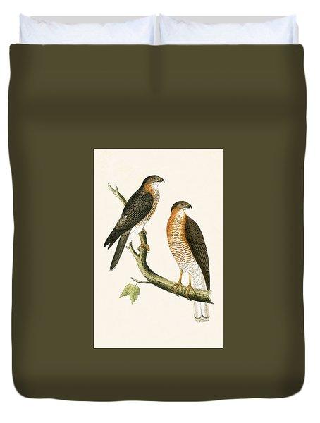Calcutta Sparrow Hawk Duvet Cover by English School