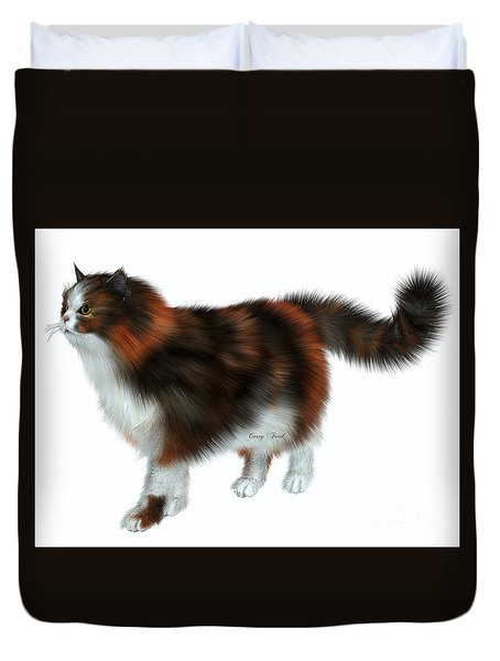 Calico Cat Duvet Cover by Corey Ford