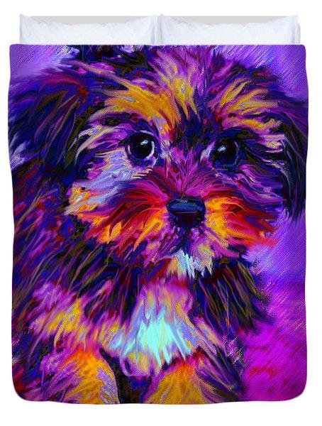 Calico Dog Duvet Cover by Jane Schnetlage