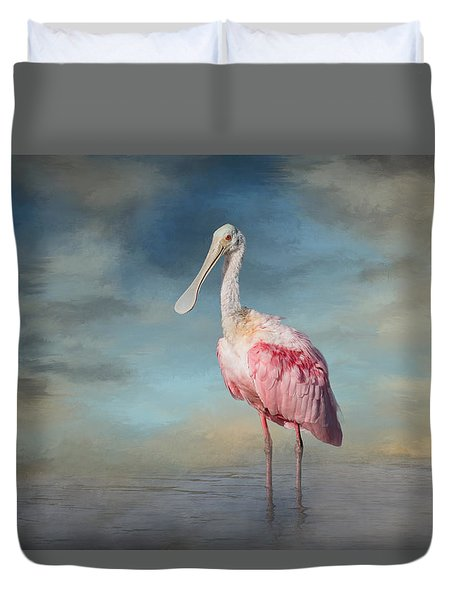 Call Me Rosy Duvet Cover by Kim Hojnacki