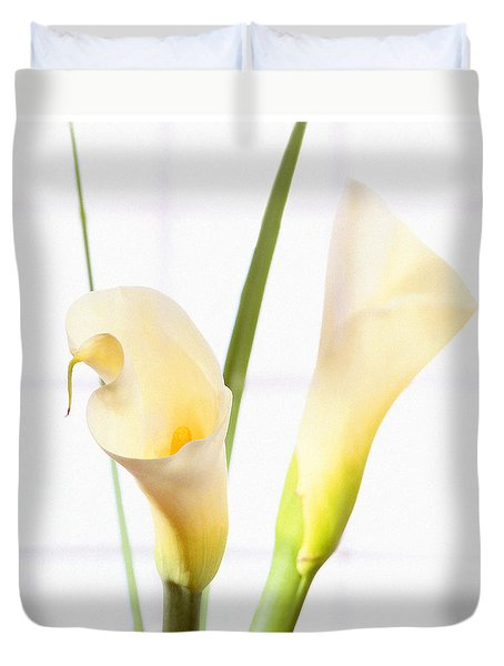 Calla Lily Duvet Cover by Mike McGlothlen