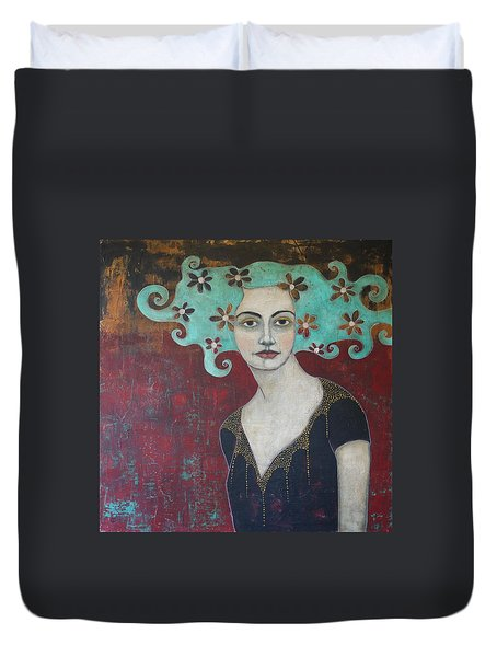 Calling From The Deep Duvet Cover by Jane Spakowsky