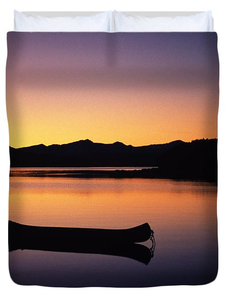 Calming Canoe Duvet Cover by John Hyde - Printscapes