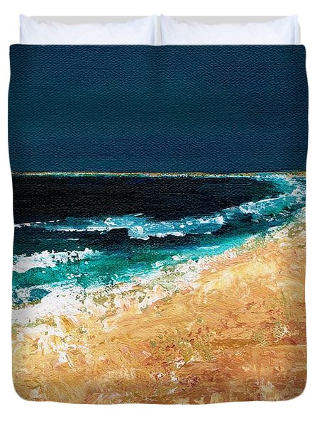 Calming Waters Duvet Cover by Frances Marino