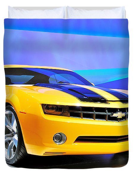Camaro Bumble Bee 0993 Duvet Cover by Michael Peychich