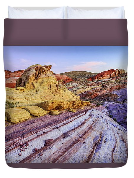 Candy Cane Desert Duvet Cover by Chad Dutson