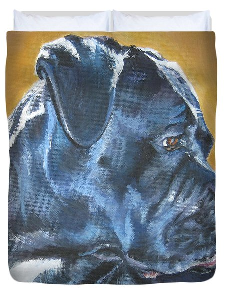 Cane Corso Duvet Cover by Lee Ann Shepard