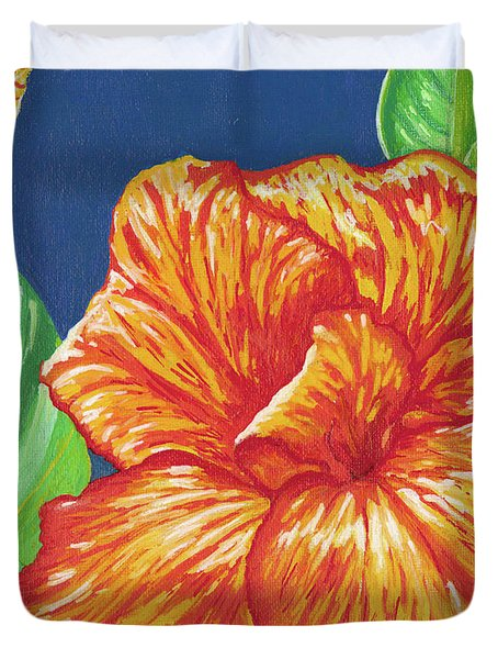 Canna Flower Duvet Cover by Adam Johnson