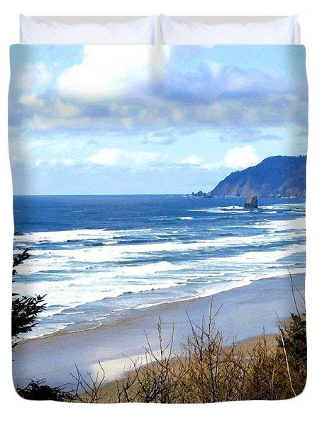 Cannon Beach Vista Duvet Cover by Will Borden