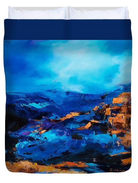 Canyon Song Duvet Cover by Elise Palmigiani