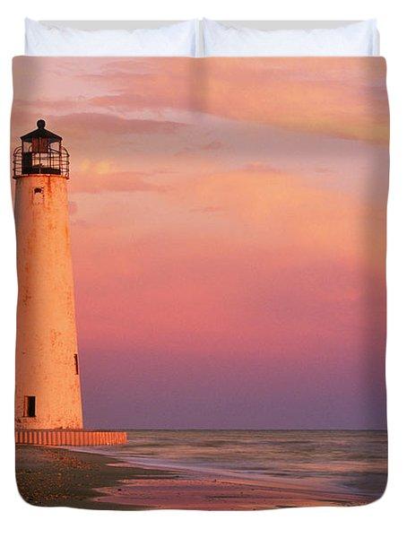 Cape Saint George Lighthouse - Fs000117 Duvet Cover by Daniel Dempster