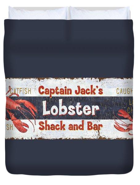 Captain Jack's Lobster Shack Duvet Cover by Debbie DeWitt