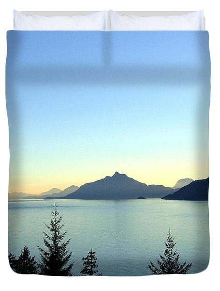 Captivating Howe Sound Duvet Cover by Will Borden