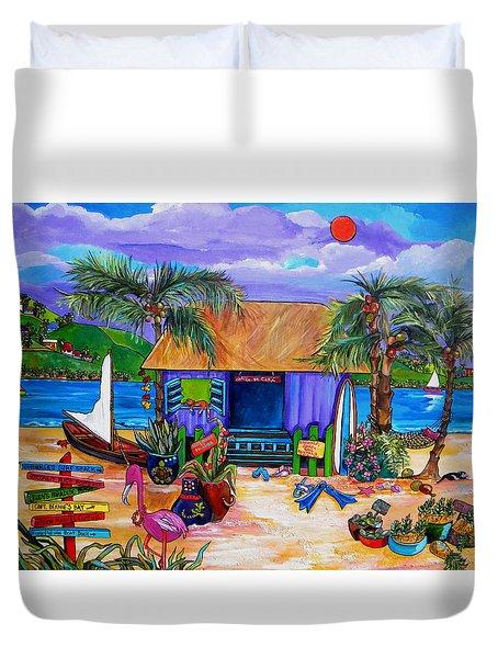 Cara's Island Time Duvet Cover by Patti Schermerhorn