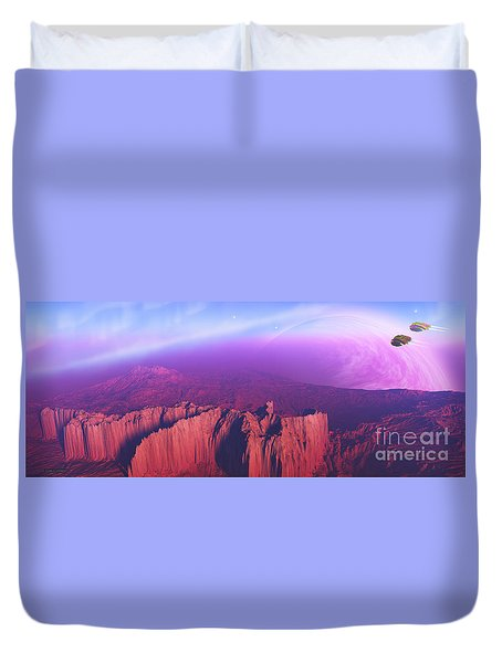 Cardinal Pointe Duvet Cover by Corey Ford