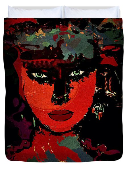 Carla Duvet Cover by Natalie Holland