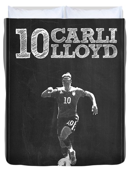 Carli Lloyd Duvet Cover by Semih Yurdabak