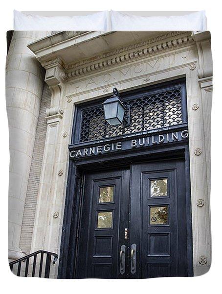 Carnegie Building Penn State  Duvet Cover by John McGraw
