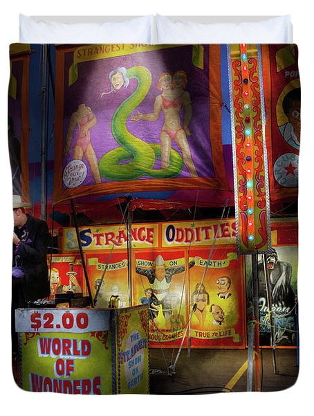 Carnival - Strange Oddities  Duvet Cover by Mike Savad