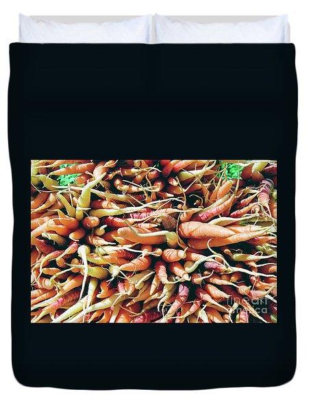 Carrots Duvet Cover by Ian MacDonald