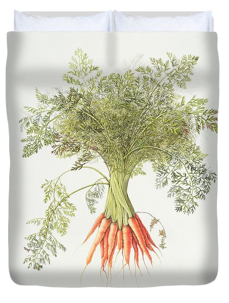 Carrots Duvet Cover by Margaret Ann Eden