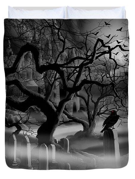 Castle Graveyard I Duvet Cover by James Christopher Hill