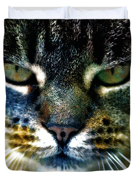 Cat Art Duvet Cover by Frank Tschakert