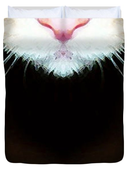 Cat Art - Super Whiskers Duvet Cover by Sharon Cummings