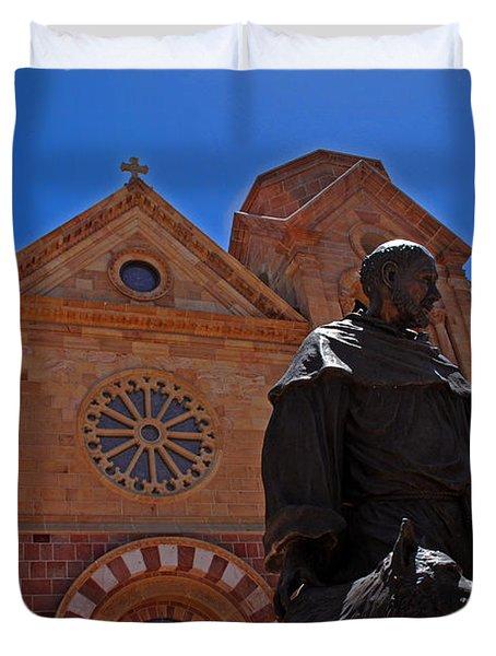 Cathedral Basilica in Santa Fe Duvet Cover by Susanne Van Hulst