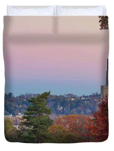 Cathedral Of Learning Duvet Cover by Emmanuel Panagiotakis