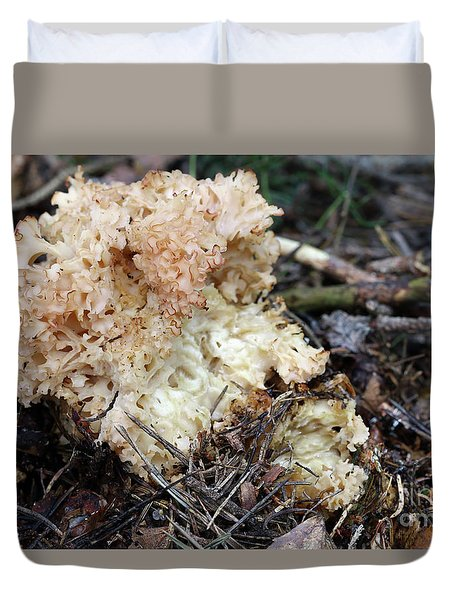 Cauliflower Fungus Duvet Cover by Michal Boubin