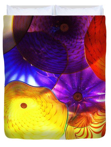 Celestial Glass 3 Duvet Cover by Xueling Zou