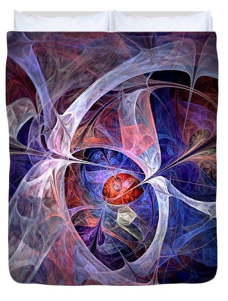 Celestial North - Fractal Art Duvet Cover by NirvanaBlues