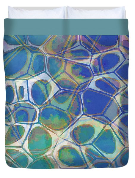 Cell Abstract 13 Duvet Cover by Edward Fielding