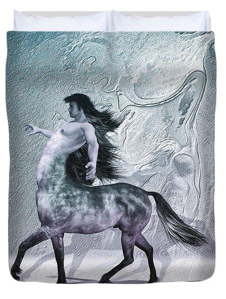 Centaur Cool Tones Duvet Cover by Quim Abella