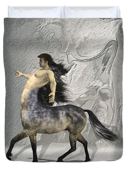 Centaur Warm Tones Duvet Cover by Quim Abella