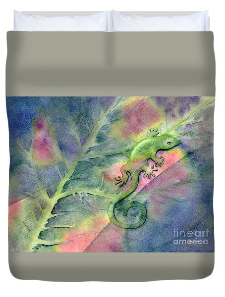 Chameleon Duvet Cover by Amy Kirkpatrick