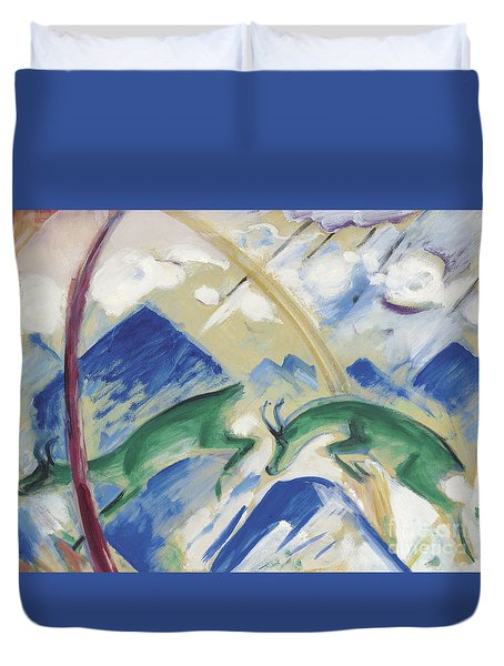 Chamois Duvet Cover by Franz Marc