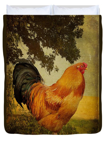 Chanticleer Duvet Cover by Lois Bryan