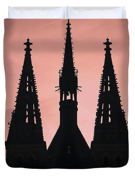 Chapter Church Of St Peter And Paul Duvet Cover by Michal Boubin