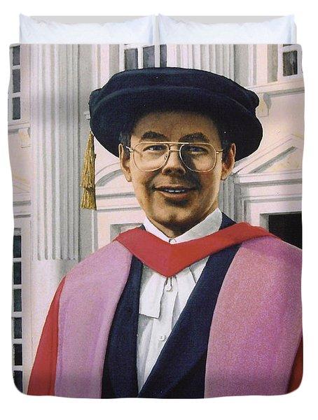 Charles Harpum Receiving Doctorate Of Law Duvet Cover by Richard Harpum