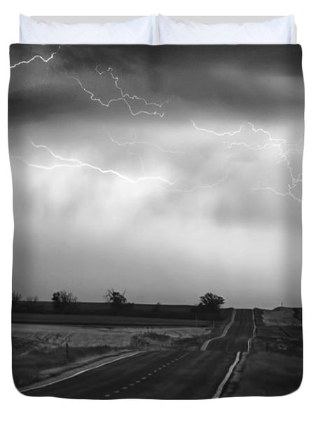 Chasing The Storm - County Rd 95 And Highway 52 - Colorado Duvet Cover by James BO  Insogna